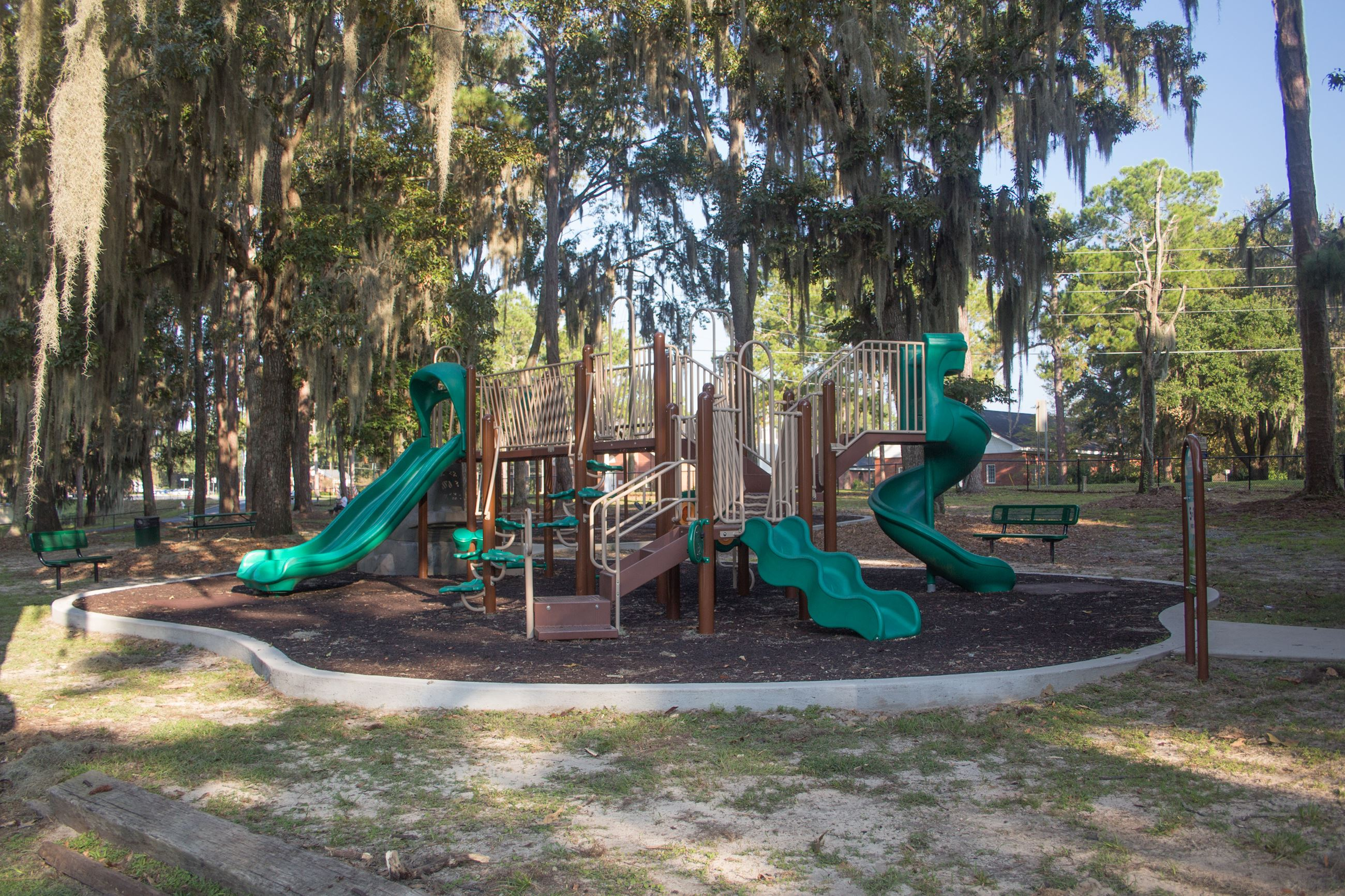 An image of a playground at a park.