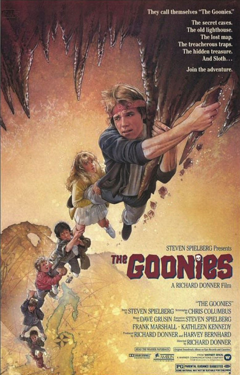 "Image of ""The Goonies"" movie poster."